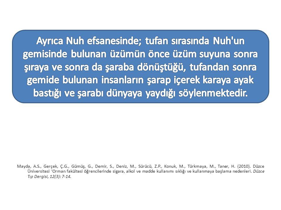 Mayda, A.S., Gerçek, Ç.G., Gümüş, G., Demir, S., Deniz, M., Sürücü, Z.P., Konuk, M., Türkmaya, M., Taner, H.