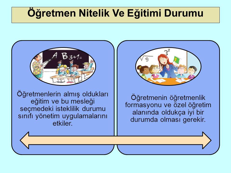 Okul Yönetiminin Yapısı ve İşleyişi Okul yöneticilerinin yönetim tarzları öğretmenlerin sınıf yönetim tarzlarını etkiler.