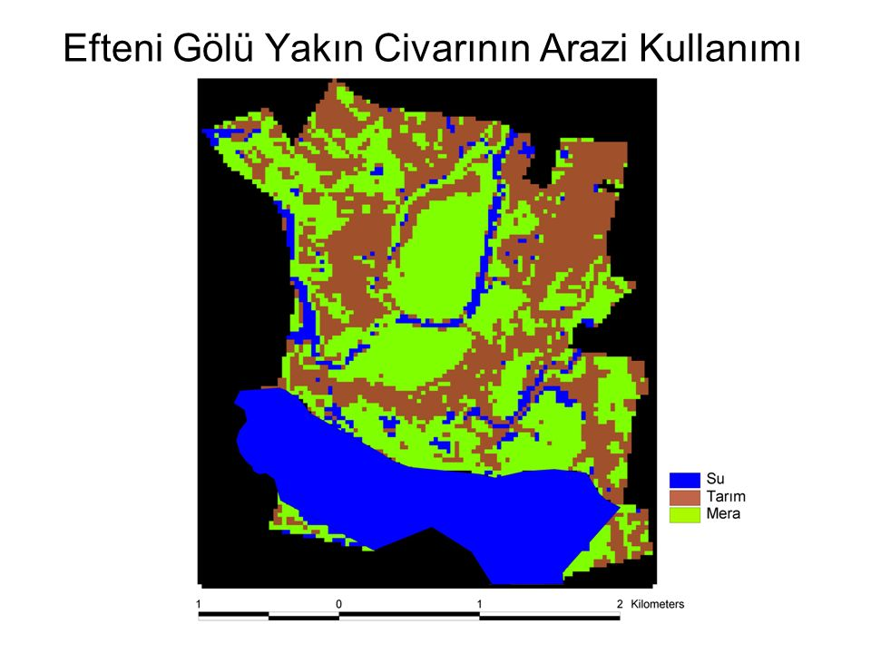 Efteni Gölü Yakın Civarının Arazi Kullanımı