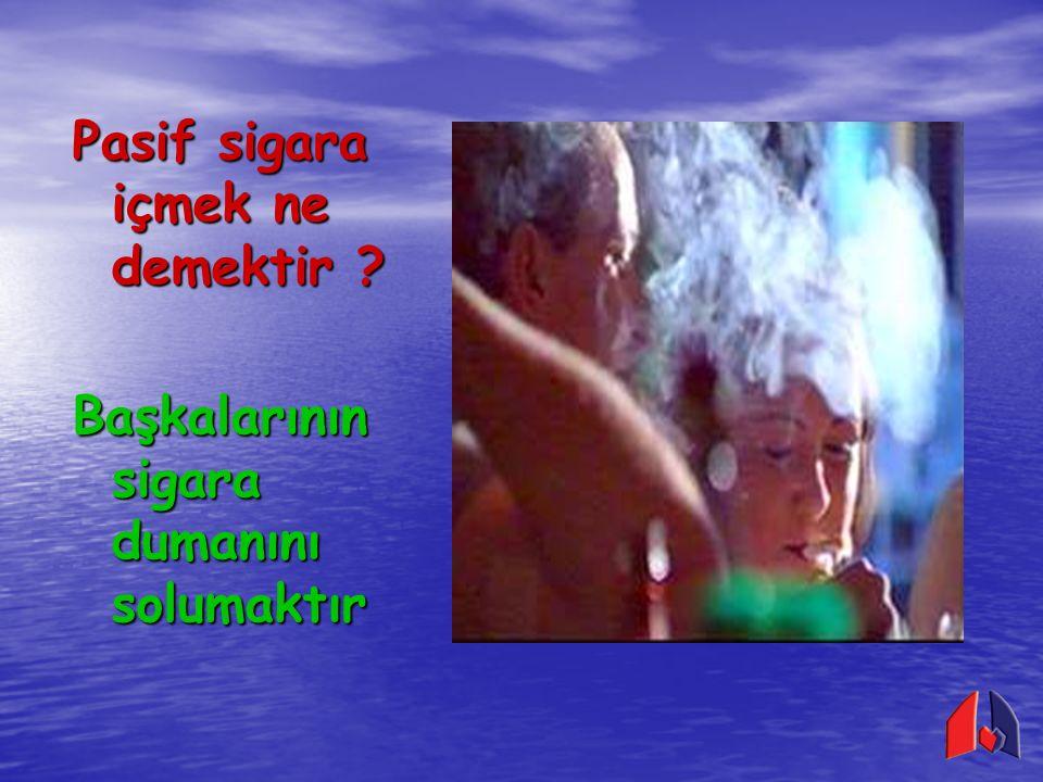Pasif sigara içmek ne demektir ? Başkalarının sigara dumanını solumaktır