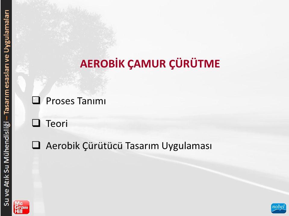 AEROBİK ÇAMUR ÇÜRÜTME  Proses Tanımı  Teori  Aerobik Çürütücü Tasarım Uygulaması