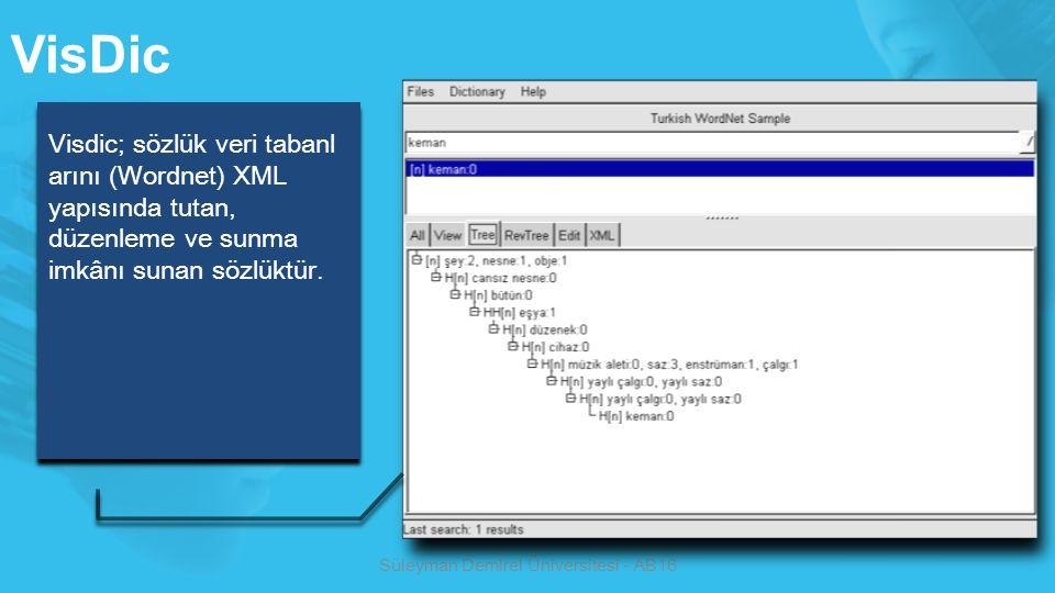 Bilgisayar Ağ Terimleri Sözlüğünün Oluşturulurken Kullanılan Sözlükler Süleyman Demirel Üniversitesi - AB16