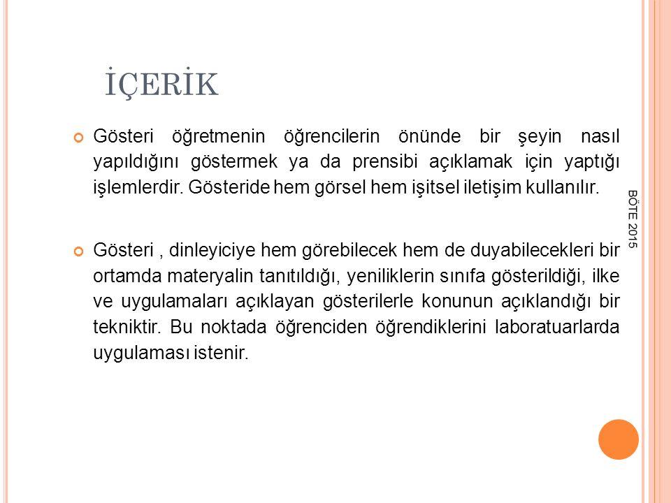 ÖNERİLER & REHBER İLKELER 5.