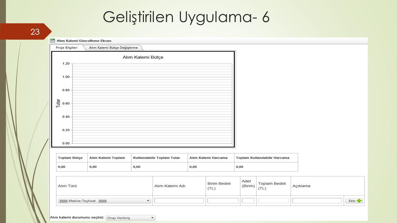 Geliştirilen Uygulama- 6 23