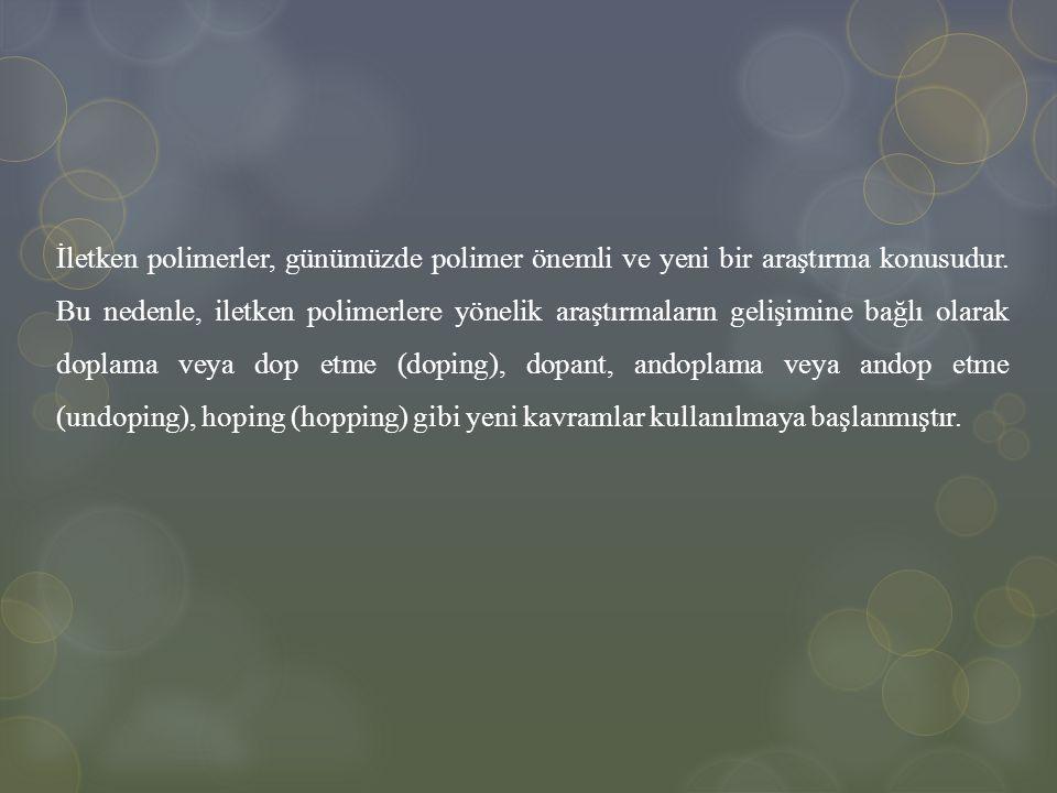 İletken polimerler, günümüzde polimer önemli ve yeni bir araştırma konusudur. Bu nedenle, iletken polimerlere yönelik araştırmaların gelişimine bağlı