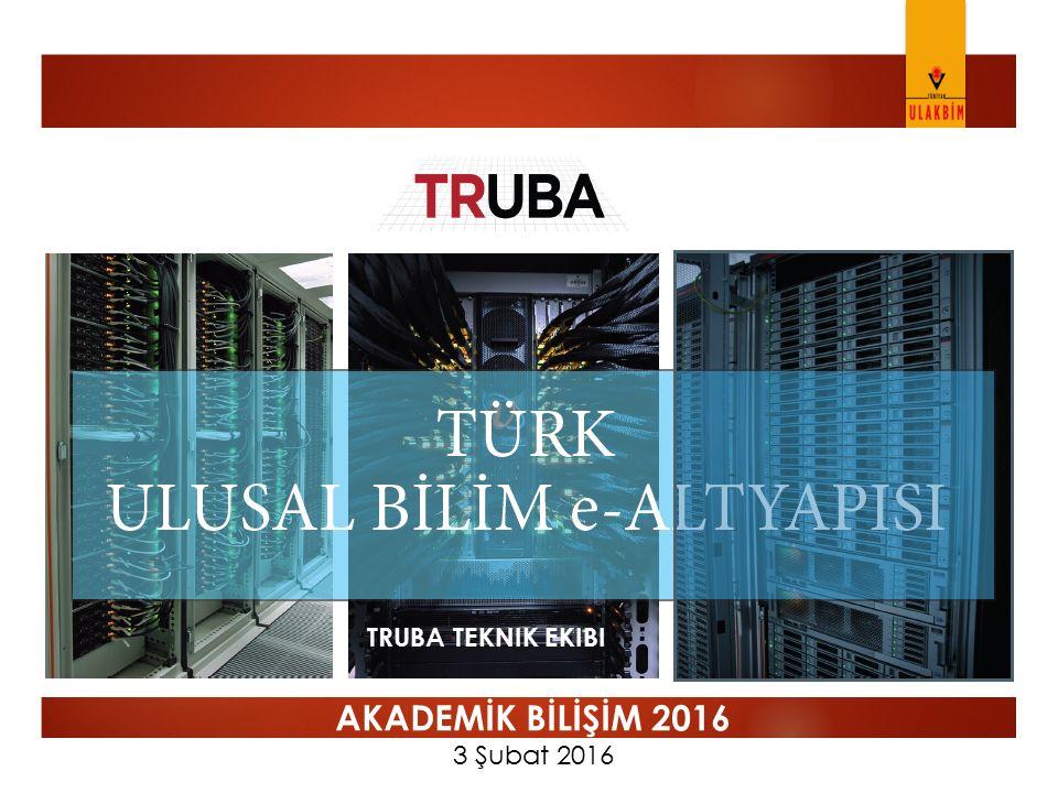 TRUBA Kullanıcı Profili  Bireysel Kullanıcılar  Tüm üniversitede araştırma yapan akademisyenlere, üyelik işlemleri sonrasında hizmet verilmektedir.