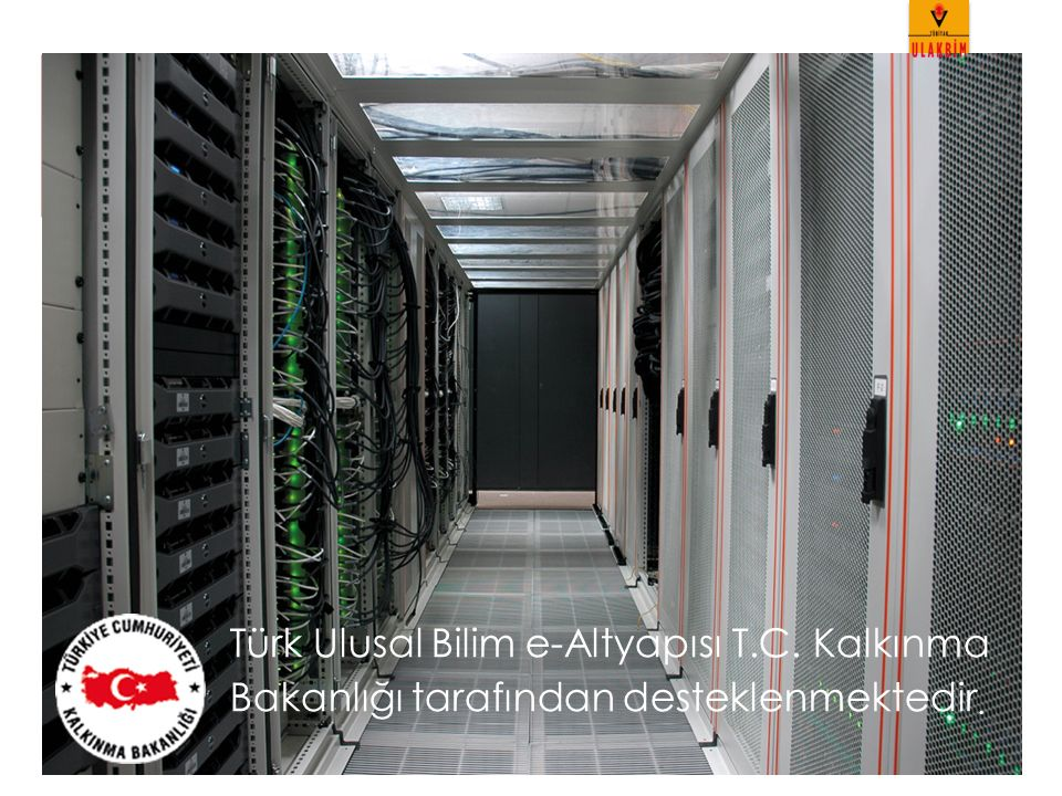 Projeler ve İş Birlikleri Başbakanlık Afet ve Acil Durum Yönetimi Başkanlığı Türkiye Deprem Veri Merkezi Projesi (AFAD-TDVM ) Türkiye Atom Enerjisi Kurumu Yüksek enerji fiziği çalışmaları: ATLAS ve CMS Coğrafi Bilgi Sistemleri Genel Müdürlüğü Gerçek (True) Ortofoto ve Coğrafi Veri Üretimi Projesi