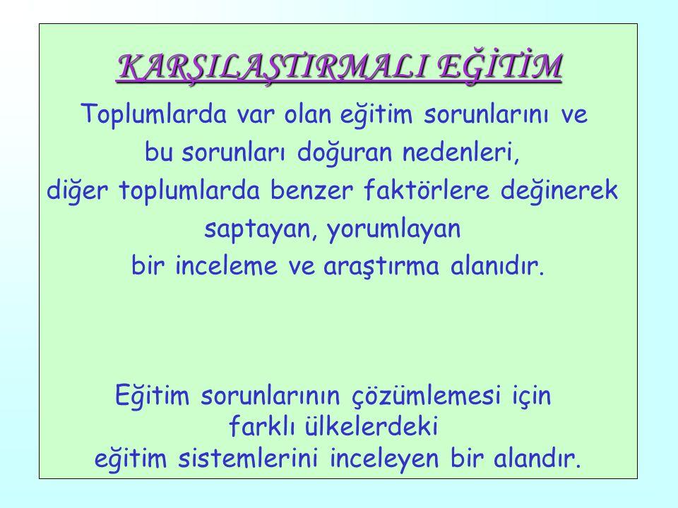 1 KARŞILAŞTIRMALIEĞİTİM Dr. Mustafa Aydın BAŞAR Dr. Mustafa Aydın BAŞAR