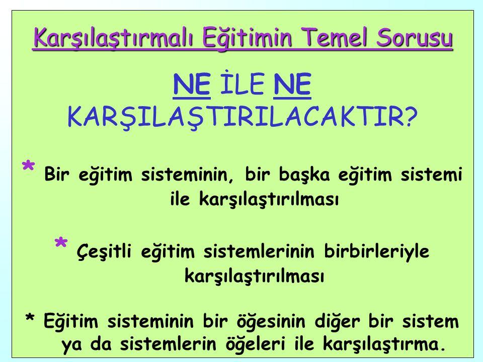 5 KARŞILAŞTIRMALI EĞİTİMİN AMAÇLARI 5.