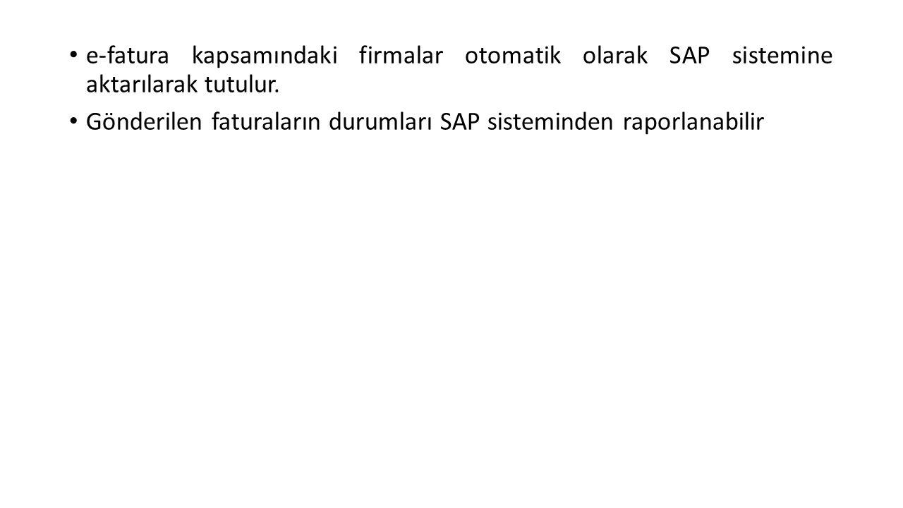 Gelen Fatura SAP Aktarım( FI Modülü )