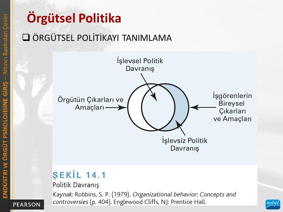 Örgütsel Politika  ÖRGÜTSEL POLİTİKAYI TANIMLAMA