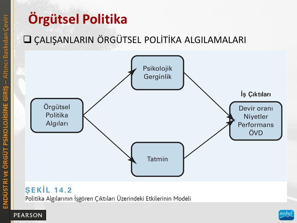 Örgütsel Politika  ÇALIŞANLARIN ÖRGÜTSEL POLİTİKA ALGILAMALARI