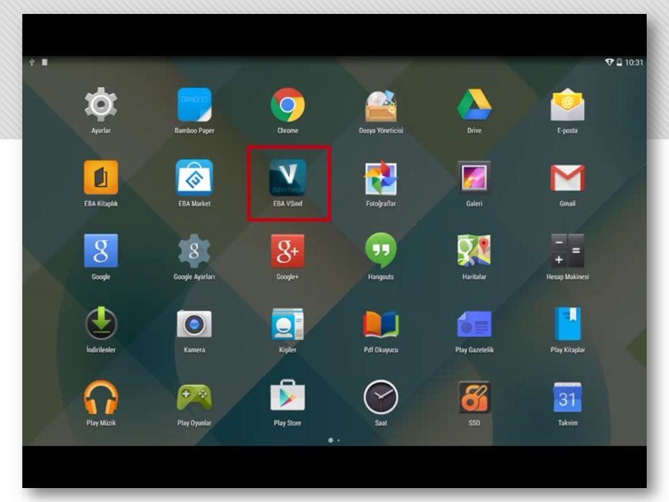 Öğrenci tableti bilgi uyarısı ile içerik paylaşımını bildirir.