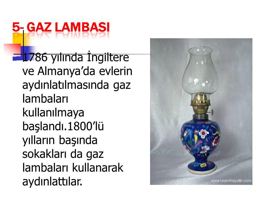 1879'da Thomas Edison ampulü icat etti.
