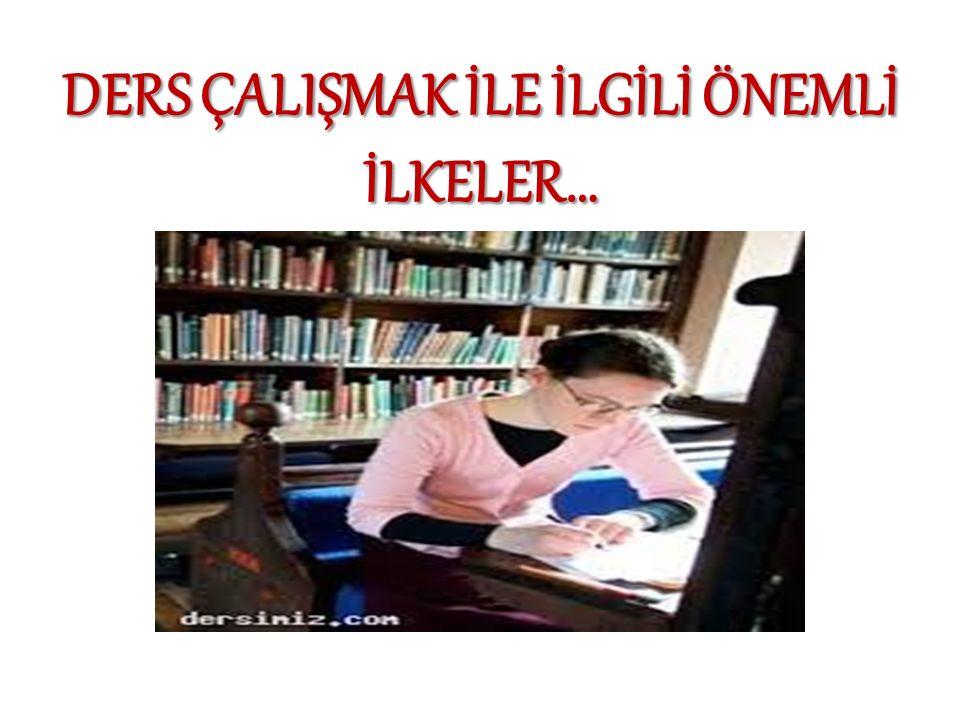  Çocuğunuzun evde ders çalışmasını kontrol edin.