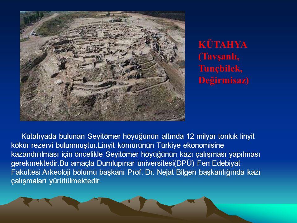 Kütahyada bulunan Seyitömer höyüğünün altında 12 milyar tonluk linyit kökür rezervi bulunmuştur.Linyit kömürünün Türkiye ekonomisine kazandırılması iç