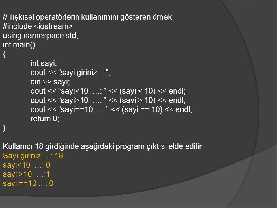 Döngüler Döngüler programda, bir bölümün istege uygun olarak tekrar edilmesini sağlar.