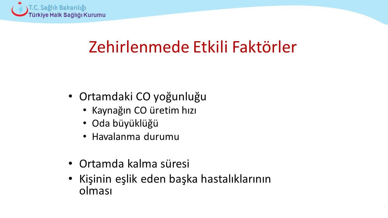 Çocuk ve Ergen Sağlığı Daire Başkanlığı Türkiye Halk Sağlığı Kurumu T.C. Sağlık Bakanlığı Ortamdaki CO yoğunluğu Kaynağın CO üretim hızı Oda büyüklüğü