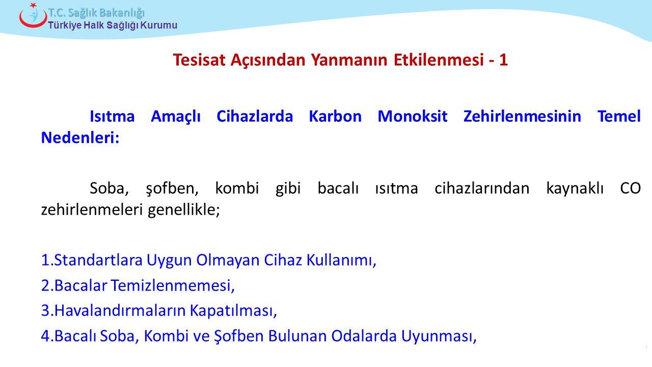Çocuk ve Ergen Sağlığı Daire Başkanlığı Türkiye Halk Sağlığı Kurumu T.C. Sağlık Bakanlığı Tesisat Açısından Yanmanın Etkilenmesi - 1 Isıtma Amaçlı Cih
