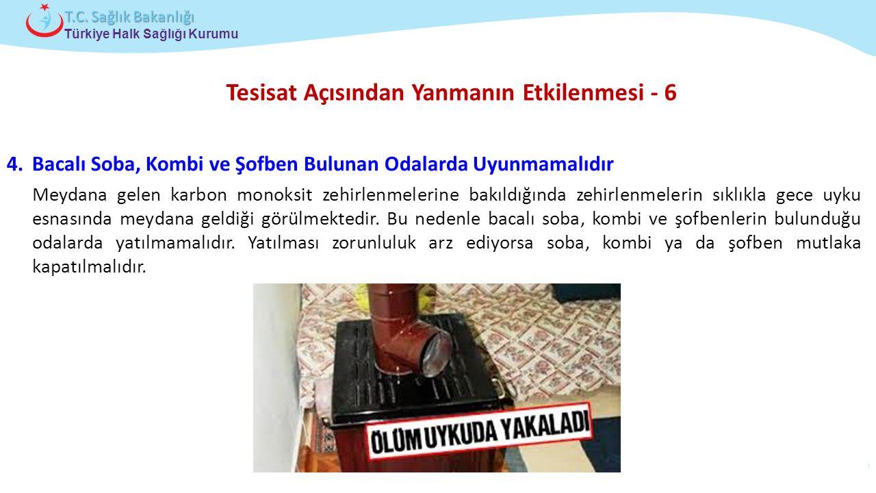 Çocuk ve Ergen Sağlığı Daire Başkanlığı Türkiye Halk Sağlığı Kurumu T.C. Sağlık Bakanlığı Tesisat Açısından Yanmanın Etkilenmesi - 6 4.Bacalı Soba, Ko