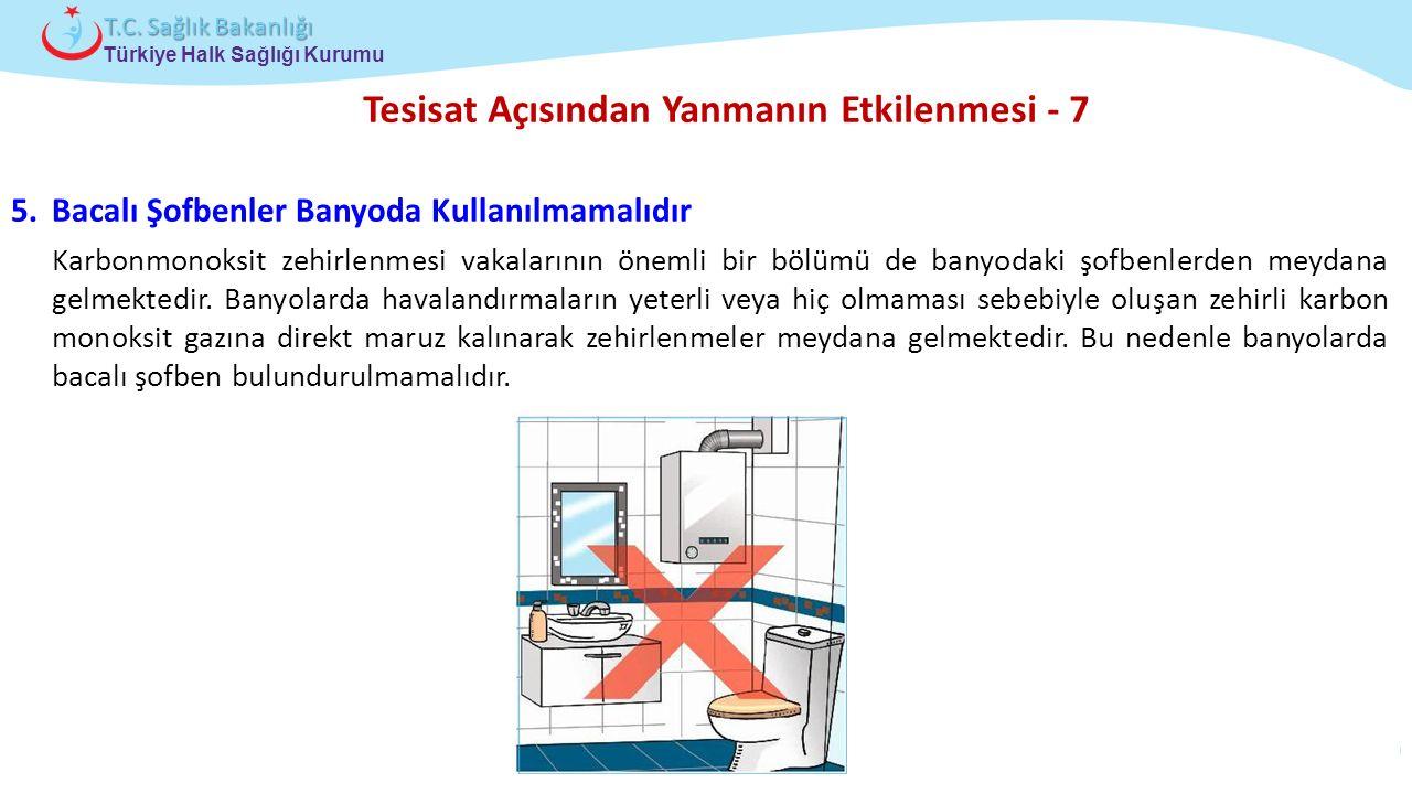 Çocuk ve Ergen Sağlığı Daire Başkanlığı Türkiye Halk Sağlığı Kurumu T.C. Sağlık Bakanlığı Tesisat Açısından Yanmanın Etkilenmesi - 7 5.Bacalı Şofbenle