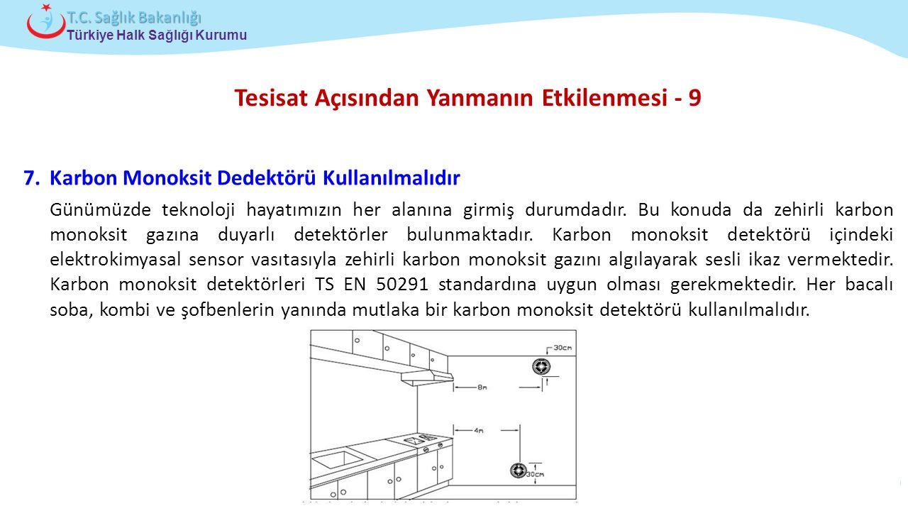 Çocuk ve Ergen Sağlığı Daire Başkanlığı Türkiye Halk Sağlığı Kurumu T.C. Sağlık Bakanlığı Tesisat Açısından Yanmanın Etkilenmesi - 9 7.Karbon Monoksit