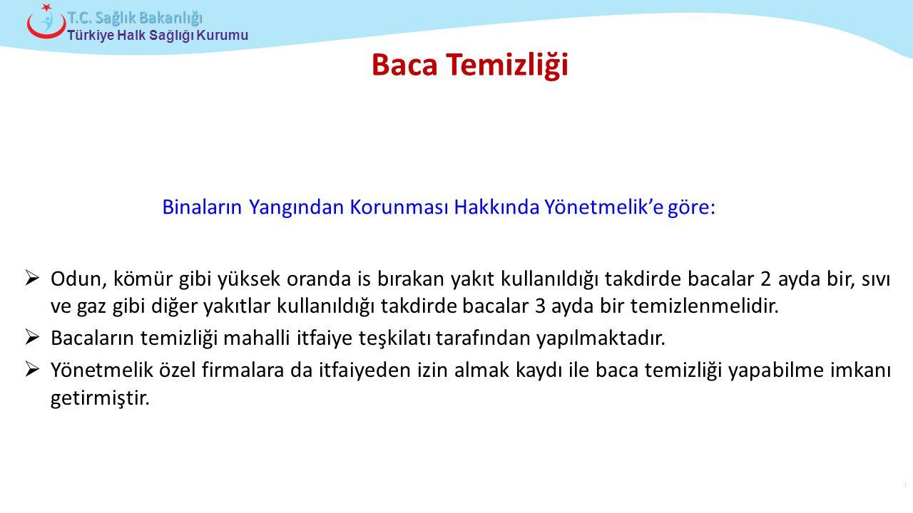 Çocuk ve Ergen Sağlığı Daire Başkanlığı Türkiye Halk Sağlığı Kurumu T.C. Sağlık Bakanlığı Baca Temizliği Binaların Yangından Korunması Hakkında Yönetm