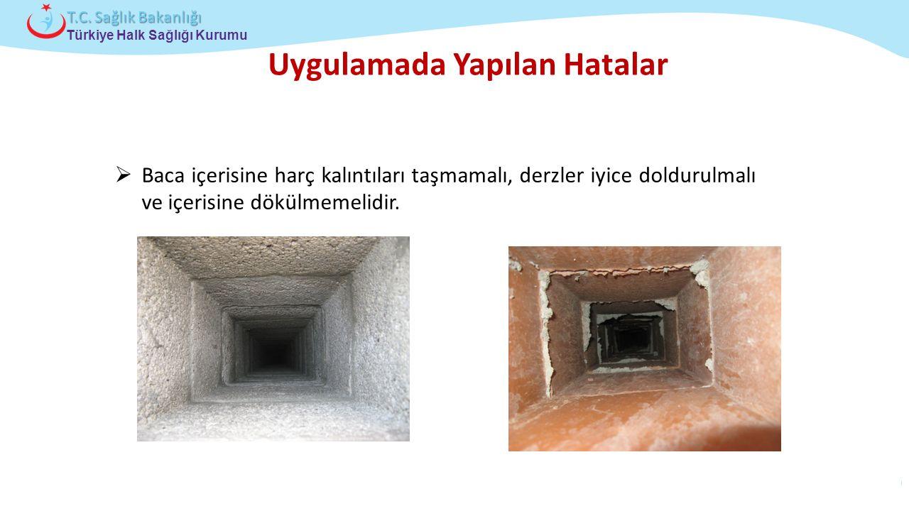 Çocuk ve Ergen Sağlığı Daire Başkanlığı Türkiye Halk Sağlığı Kurumu T.C. Sağlık Bakanlığı Uygulamada Yapılan Hatalar  Baca içerisine harç kalıntıları
