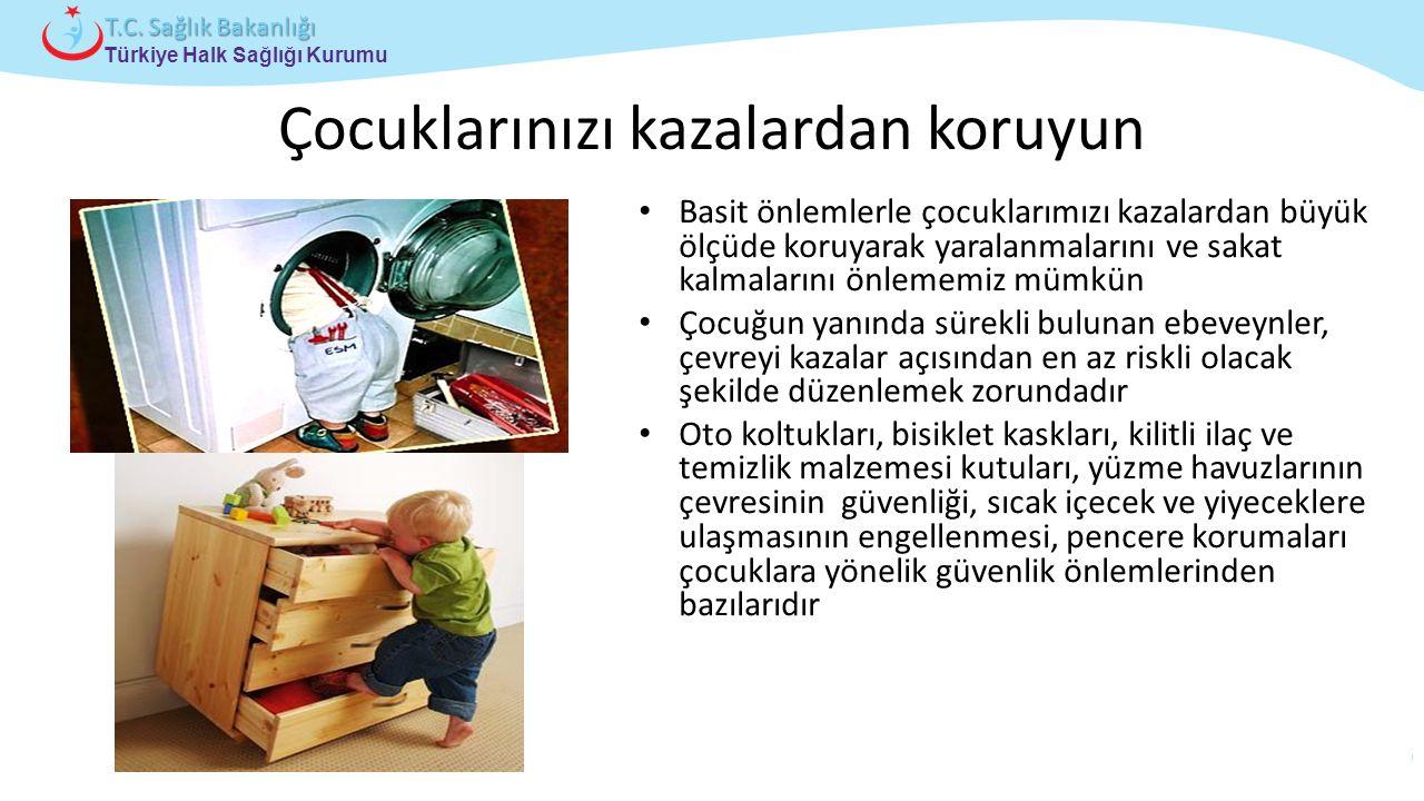 Çocuk ve Ergen Sağlığı Daire Başkanlığı Türkiye Halk Sağlığı Kurumu T.C. Sağlık Bakanlığı Çocuklarınızı kazalardan koruyun Basit önlemlerle çocuklarım