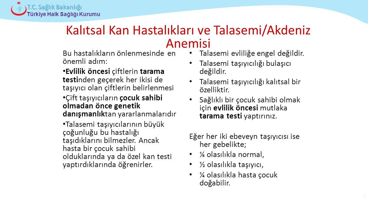 Çocuk ve Ergen Sağlığı Daire Başkanlığı Türkiye Halk Sağlığı Kurumu T.C. Sağlık Bakanlığı Kalıtsal Kan Hastalıkları ve Talasemi/Akdeniz Anemisi Bu has
