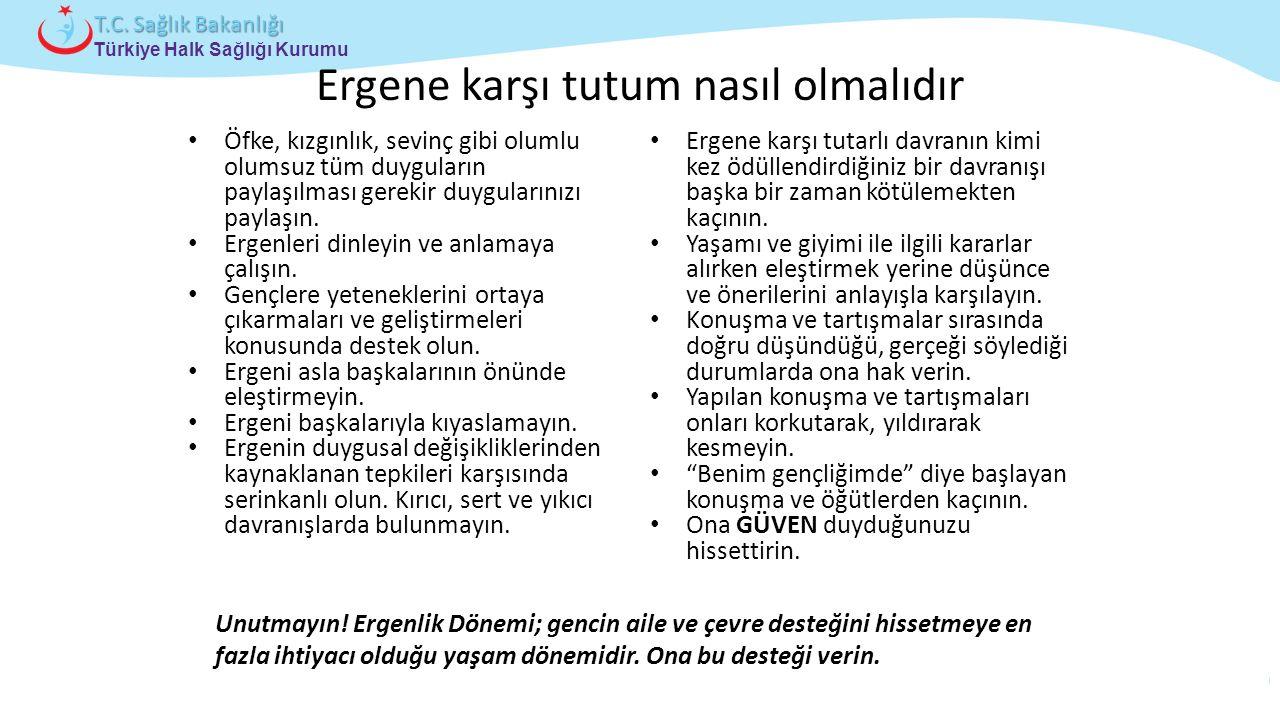 Çocuk ve Ergen Sağlığı Daire Başkanlığı Türkiye Halk Sağlığı Kurumu T.C. Sağlık Bakanlığı Ergene karşı tutum nasıl olmalıdır Öfke, kızgınlık, sevinç g