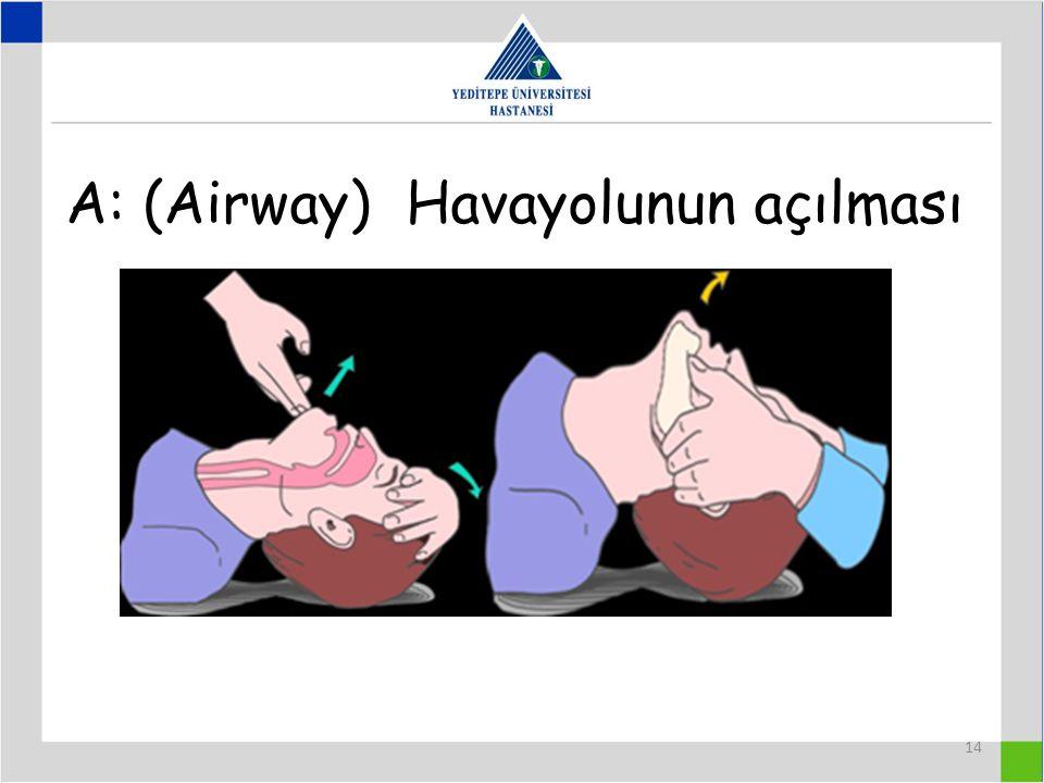14 A: (Airway) Havayolunun açılması