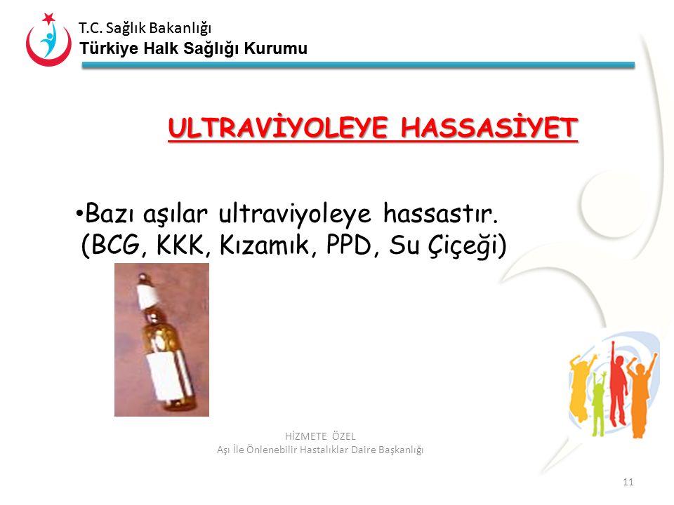 T.C. Sağlık Bakanlığı Türkiye Halk Sağlığı Kurumu T.C. Sağlık Bakanlığı Türkiye Halk Sağlığı Kurumu 11 HİZMETE ÖZEL Aşı İle Önlenebilir Hastalıklar Da