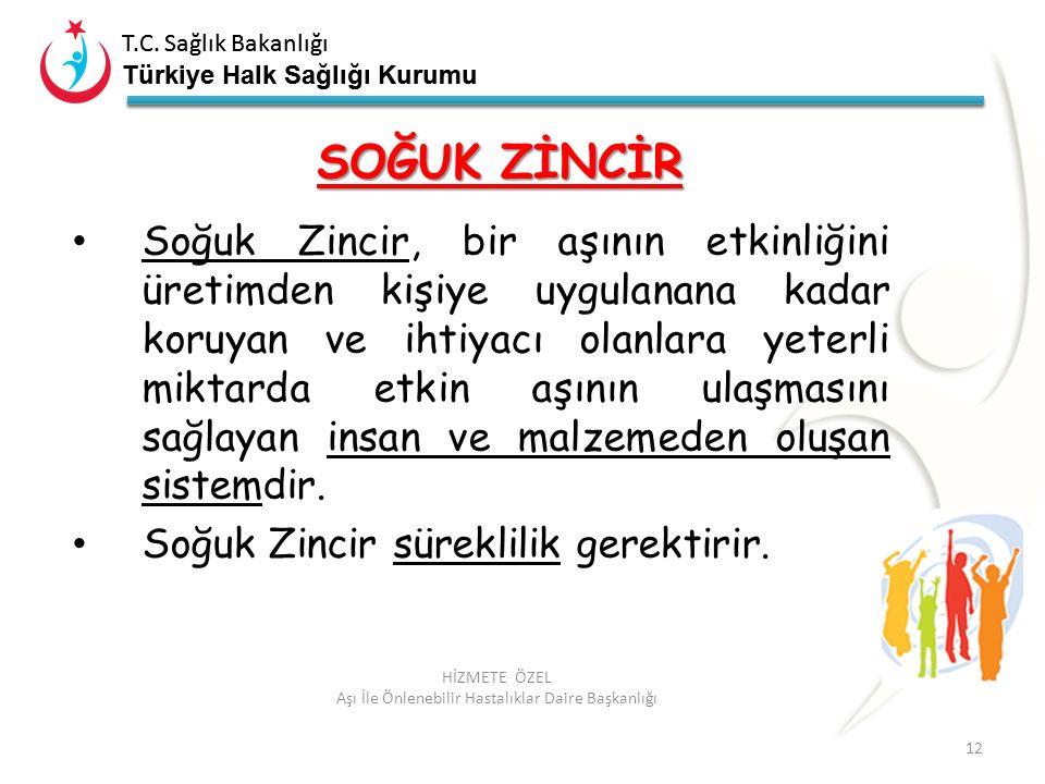 T.C. Sağlık Bakanlığı Türkiye Halk Sağlığı Kurumu T.C. Sağlık Bakanlığı Türkiye Halk Sağlığı Kurumu 12 HİZMETE ÖZEL Aşı İle Önlenebilir Hastalıklar Da
