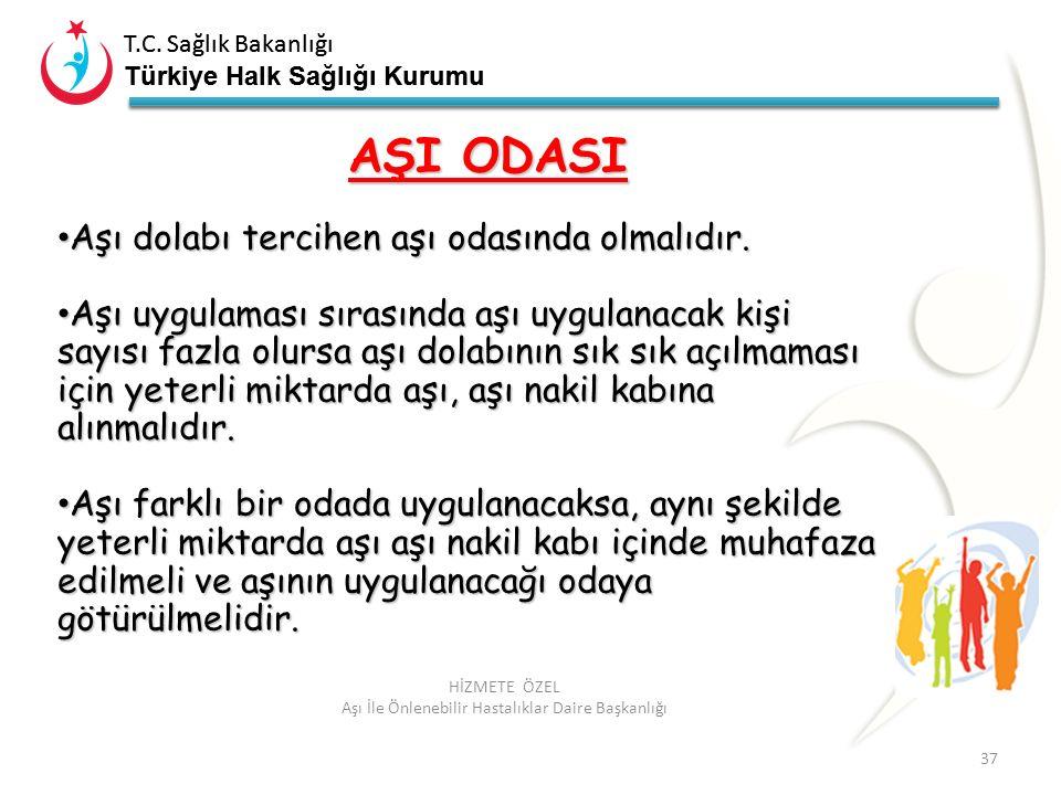 T.C. Sağlık Bakanlığı Türkiye Halk Sağlığı Kurumu T.C. Sağlık Bakanlığı Türkiye Halk Sağlığı Kurumu 37 HİZMETE ÖZEL Aşı İle Önlenebilir Hastalıklar Da