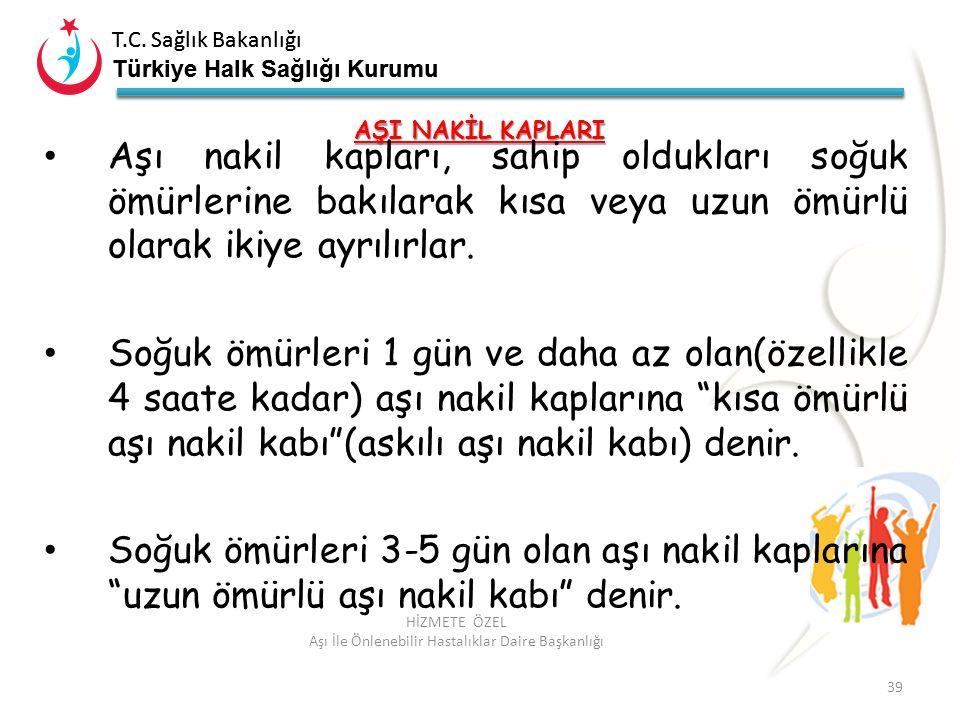 T.C. Sağlık Bakanlığı Türkiye Halk Sağlığı Kurumu T.C. Sağlık Bakanlığı Türkiye Halk Sağlığı Kurumu 39 HİZMETE ÖZEL Aşı İle Önlenebilir Hastalıklar Da