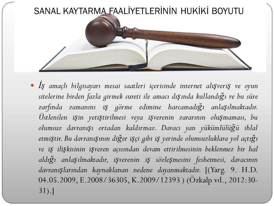 TURİZM & SANAL KAYTARMA KRONOLOJİSİ