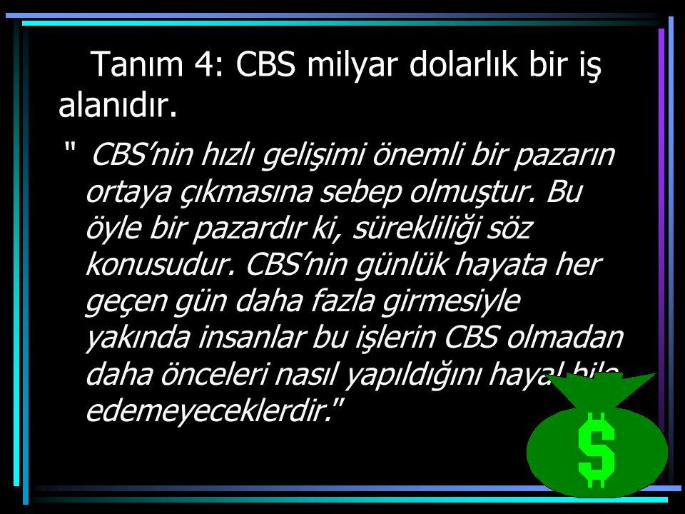 Tanım 4: CBS milyar dolarlık bir iş alanıdır.