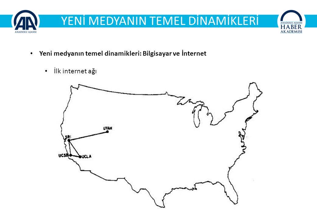 YENİ MEDYANIN TEMEL DİNAMİKLERİ Yeni medyanın temel dinamikleri: Bilgisayar ve İnternet İlk internet ağı