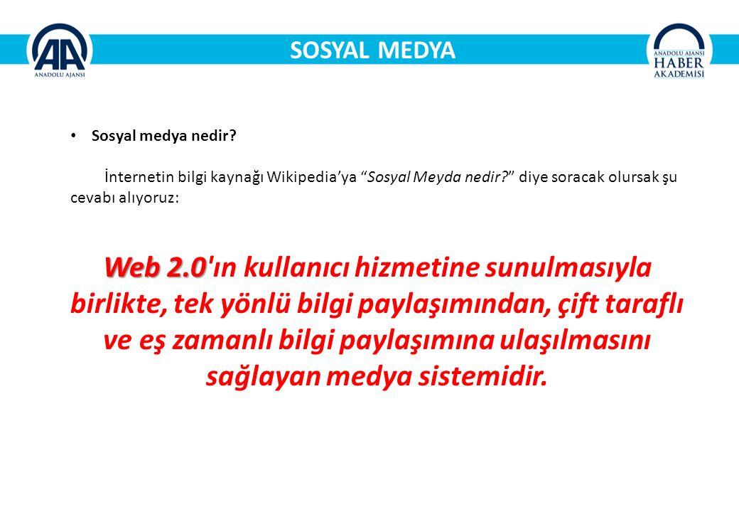 SOSYAL MEDYA Sosyal medya nedir.