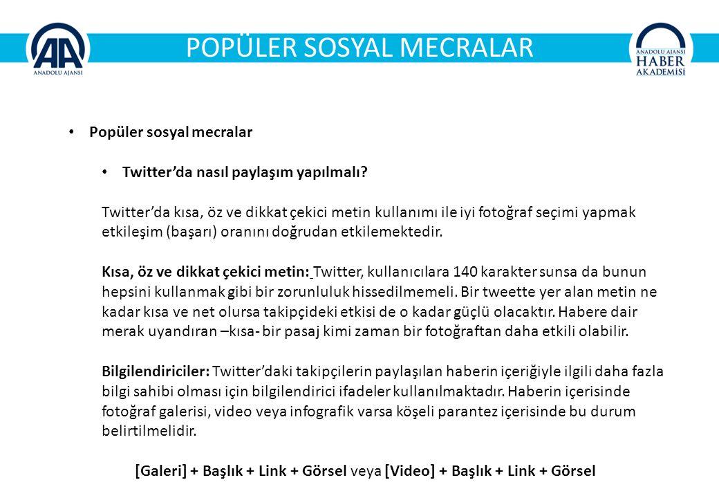 POPÜLER SOSYAL MECRALAR Popüler sosyal mecralar Twitter'da nasıl paylaşım yapılmalı.