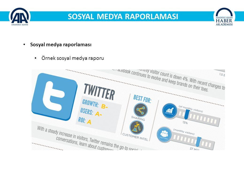 SOSYAL MEDYA RAPORLAMASI Sosyal medya raporlaması Örnek sosyal medya raporu