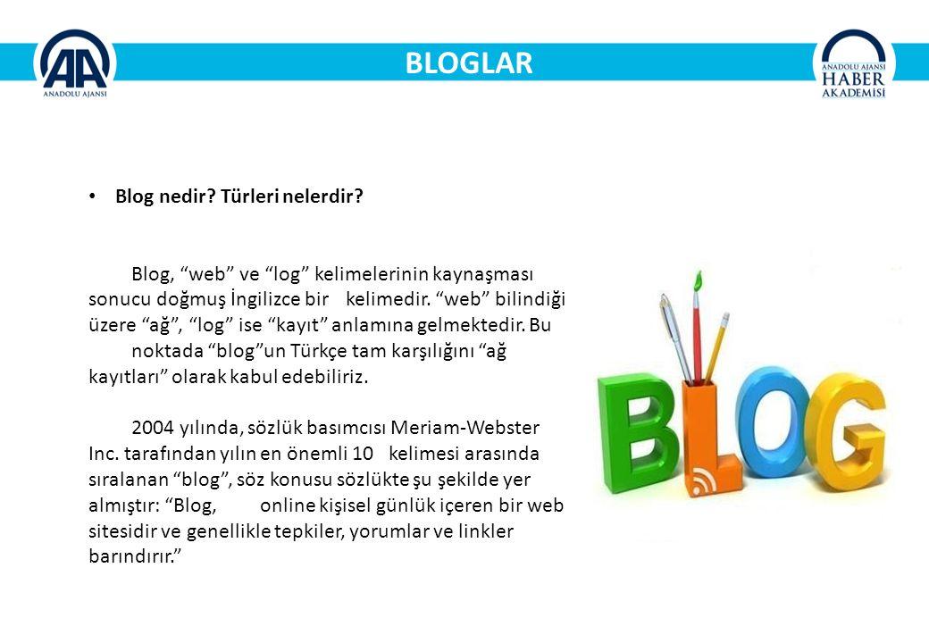 BLOGLAR Blog nedir.Türleri nelerdir.