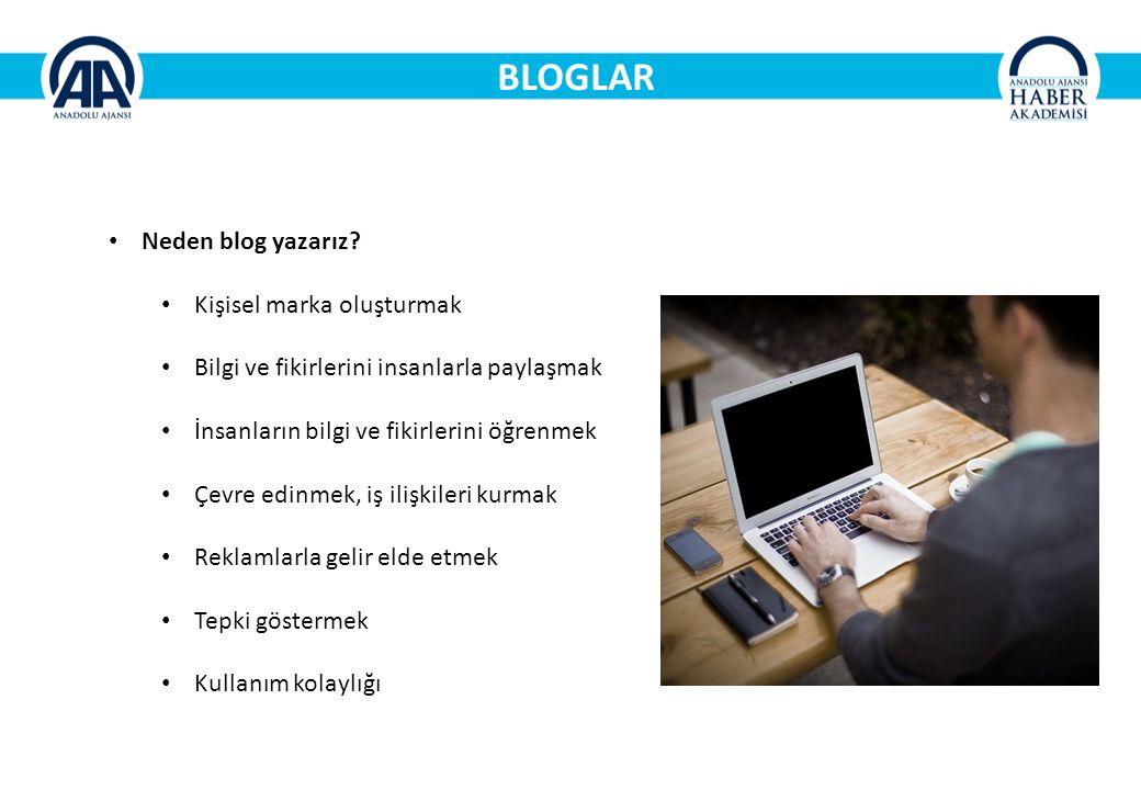 BLOGLAR Neden blog yazarız.