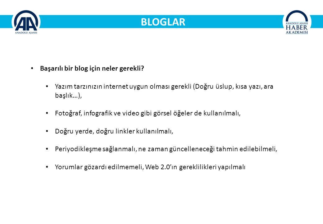 BLOGLAR Başarılı bir blog için neler gerekli.