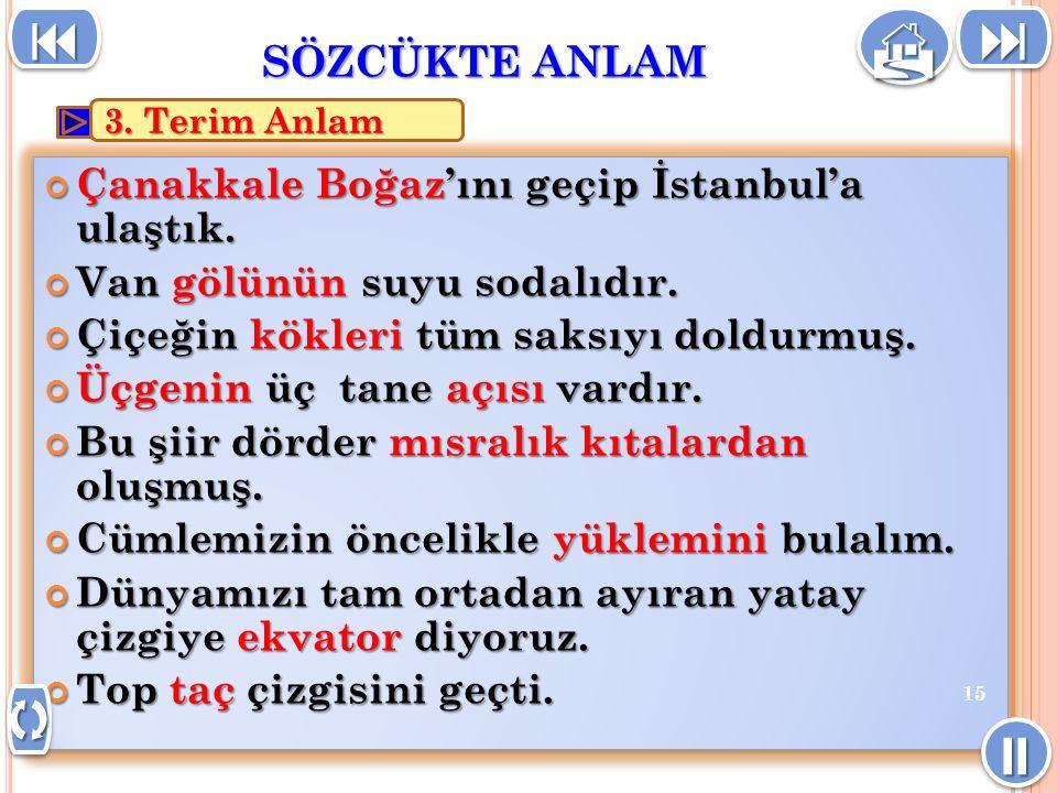 Çanakkale Boğaz'ını geçip İstanbul'a ulaştık.Van gölünün suyu sodalıdır.