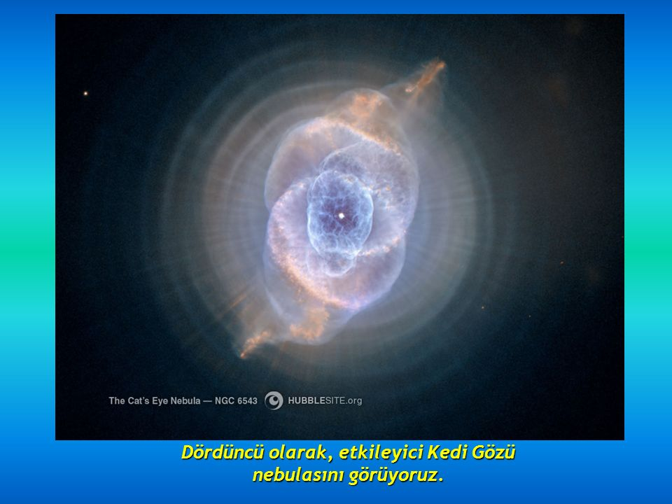 Üçüncü olarak, 5000 ışıkyılı uzaktaki NGC 2392 Eskimo nebulası.