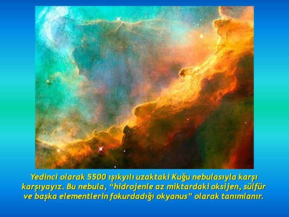 Altıncı olarak, 2.5 ışıkyılı uzaktaki Koni nebulasını görüyoruz.