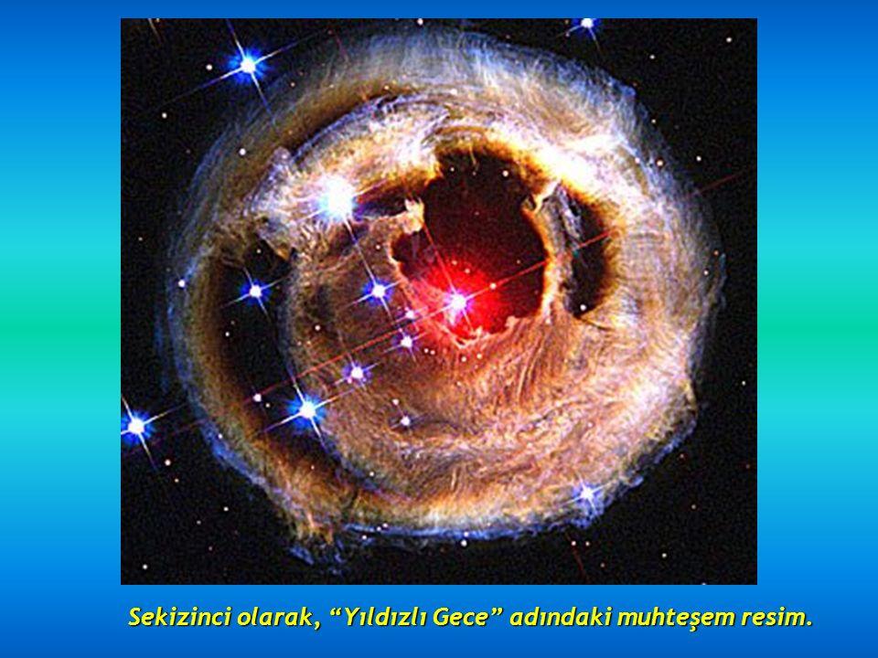 Yedinci olarak 5500 ışıkyılı uzaktaki Kuğu nebulasıyla karşı karşıyayız.