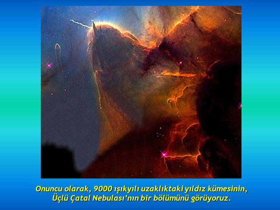 Dokuzuncusu, girdap gibi dönen iki galaksi : 114 milyon ışık yılı uzaktaki NGC 2207 ve IC 2163.